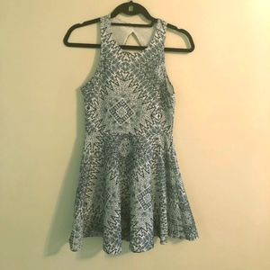 Blue and White Patterned Dress Aeropostale